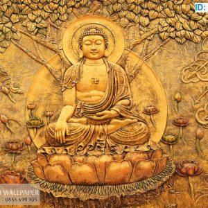Tranh dán tường 3D Phật Giáo