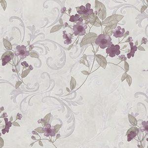 Giấy dán tường avenue hoa bông giấy tím