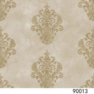 Giấy dán tường interior màu nâu hoa văn cổ điển