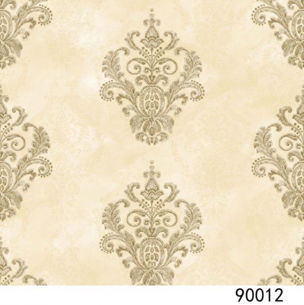 Giấy dán tường interior màu kem hoa văn cổ điển