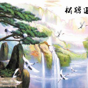 tranh 3d sơn thủy hữu tình