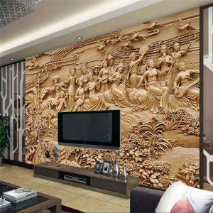 Tranh dán tường 3D điêu khắc