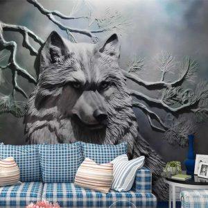 Tranh dán tường 3D động vật