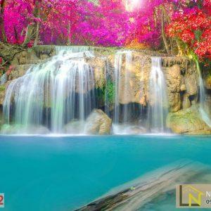 Tranh dán tường 3d thác nước công viên quốc gia E Girls