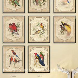 tranh treo tường chim