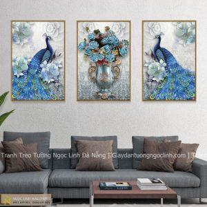 Tranh treo tường decor chim công
