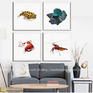tranh treo tường con cá