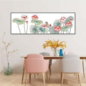 Tranh treo tường đầm hoa sen