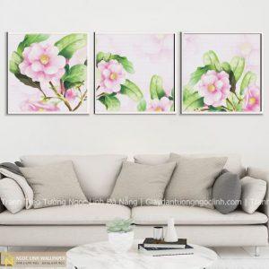 tranh treo tường decor hoa trà