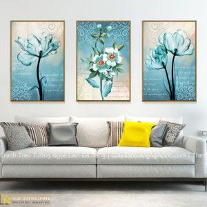 Tranh treo tường hoa xanh