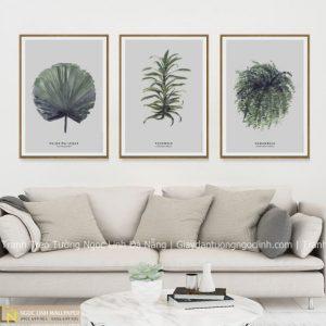 tranh treo tường lá cây