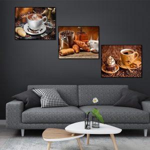 Tranh bộ treo tường quán coffe