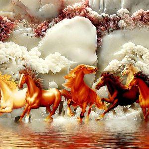 Tranh 3D ngựa mã đáo thành công