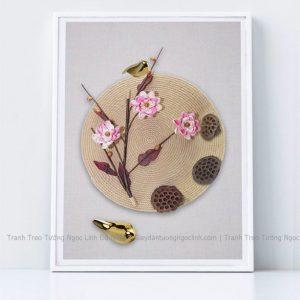 Tranh treo tường hoa anh đào và chim