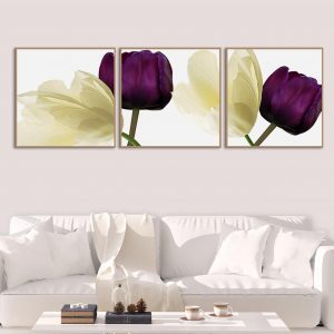 Tranh treo tường phòng khách hoa hồng