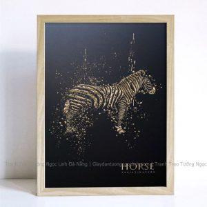 tranh treo tường trừu tượng ngựa vằn