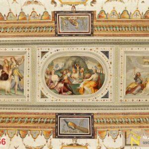 Tranh 3d châu âu dán tường cung điện Farnese