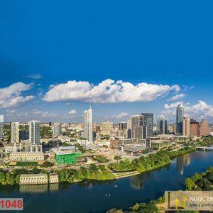 Tranh 3d thành phố Austin Texas