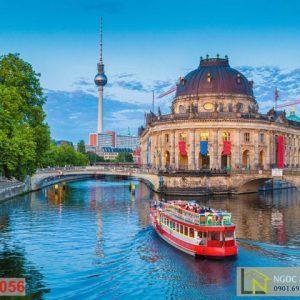 Tranh 3D Thành Phố Bode Museum Đức
