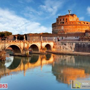 Tranh 3d thành phố Castel Saint Angelo