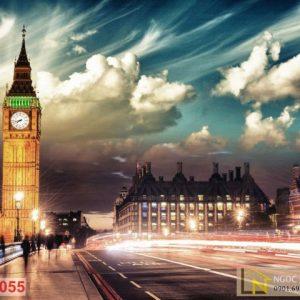 Tranh 3d thành phố london anh quốc
