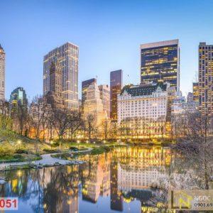 Tranh 3d thành phố Manhattan New York