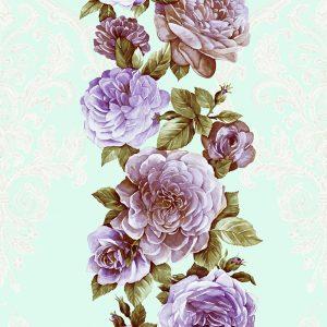 Giấy dán tường hàn quốc interior hoa hồng tím