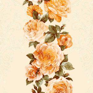 Giấy 3d hàn quốc interior hoa hồng vàng