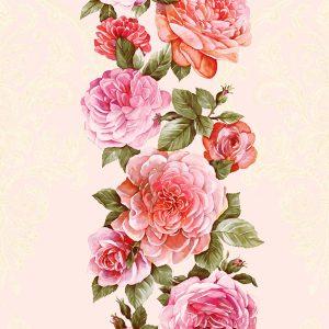 Tranh 3d hàn quốc interior hoa hồng