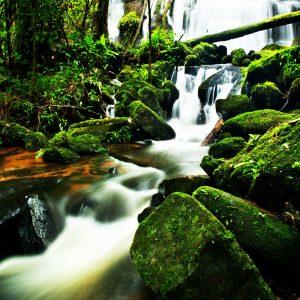 Tranh 3d dán sàn nhà thác nước đẹp