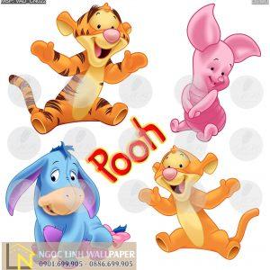 Tranh 3d cartoon chú gấu pooh
