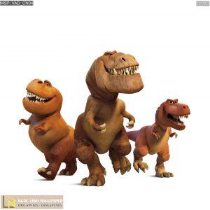 Tranh dán tường 3d cartoon chú khủng long tốt bụng