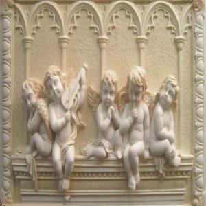 Tranh 3d điêu khắc em bé thiên thần