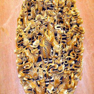 Tranh 3d điêu khắc kỳ lân