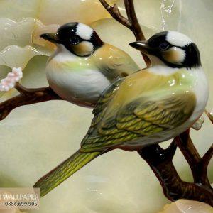 Tranh 3d giả ngọc đôi chim
