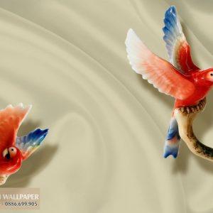 Tranh 3d giả ngọc đôi vẹt
