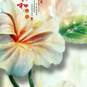 Tranh 3d khổ dọc hoa ngọc bích