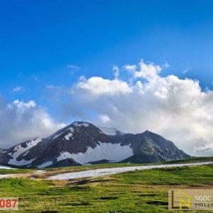 Tranh dán tường thiên nhiên ngọn núi tuyết